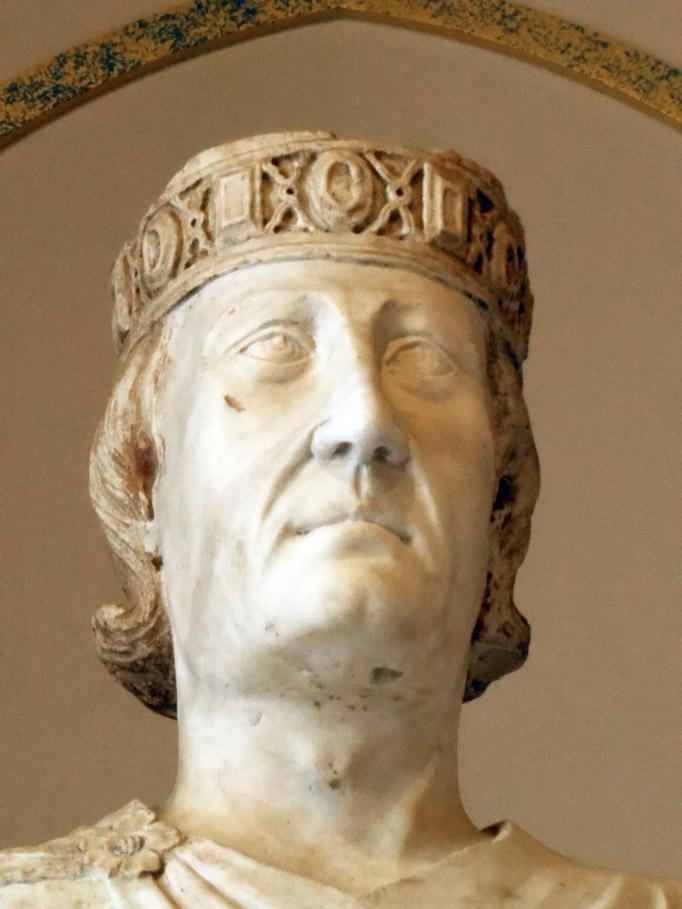 Carlo d'Angiò ritratto da Arnolfo di Cambio (Roma, Musei Capitolini)