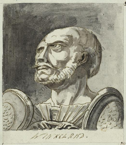 Arnold Winkelried in un ritratto di Füssli del 1750