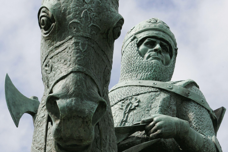 Il monumento di Robert Bruce, posto a memoria della battaglia sulla piana di Bannockburn
