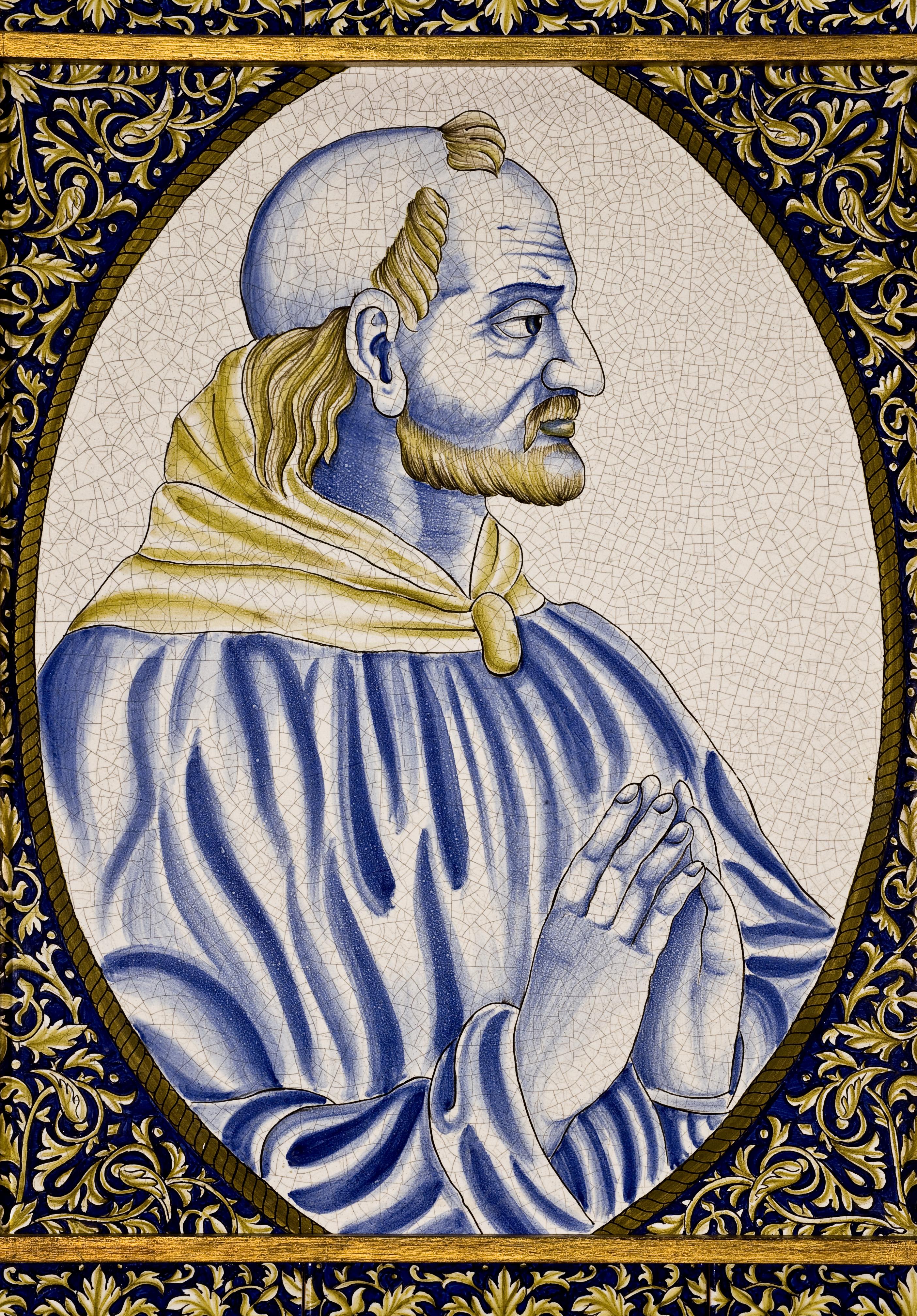 Giovanni XXI ritratto in una ceramica medievale