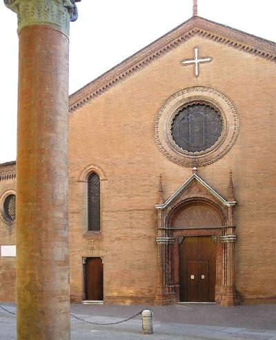 La facciata della chiesa di San Procolo a Bologna