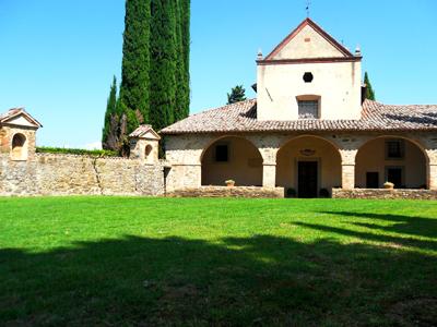 Il giardino del convento francescano da cui si accede alla Scarzuola