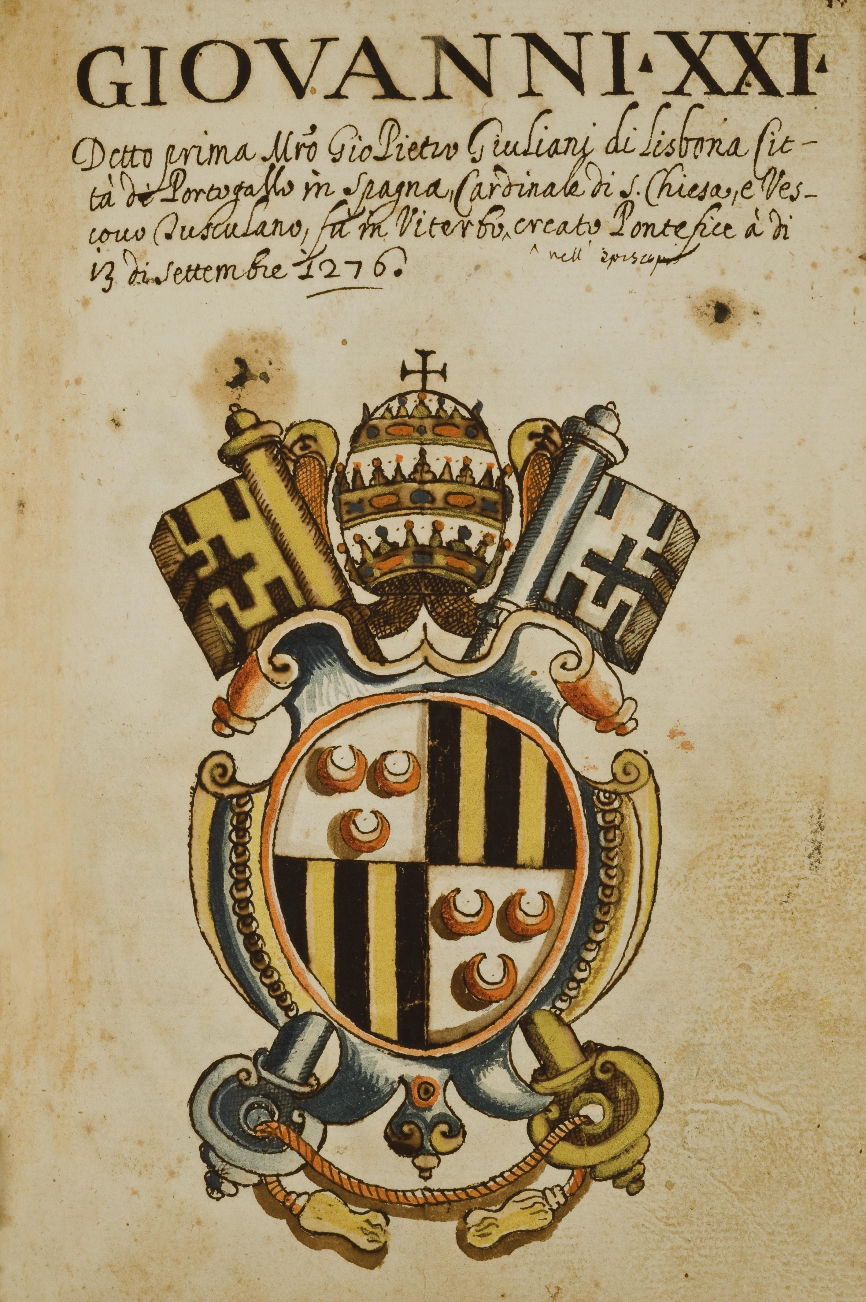 Lo stemma di Giovanni XXI