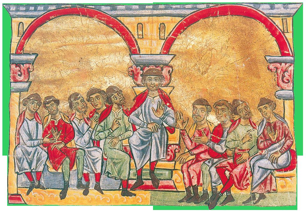Il podestà di Genova con i consoli della città