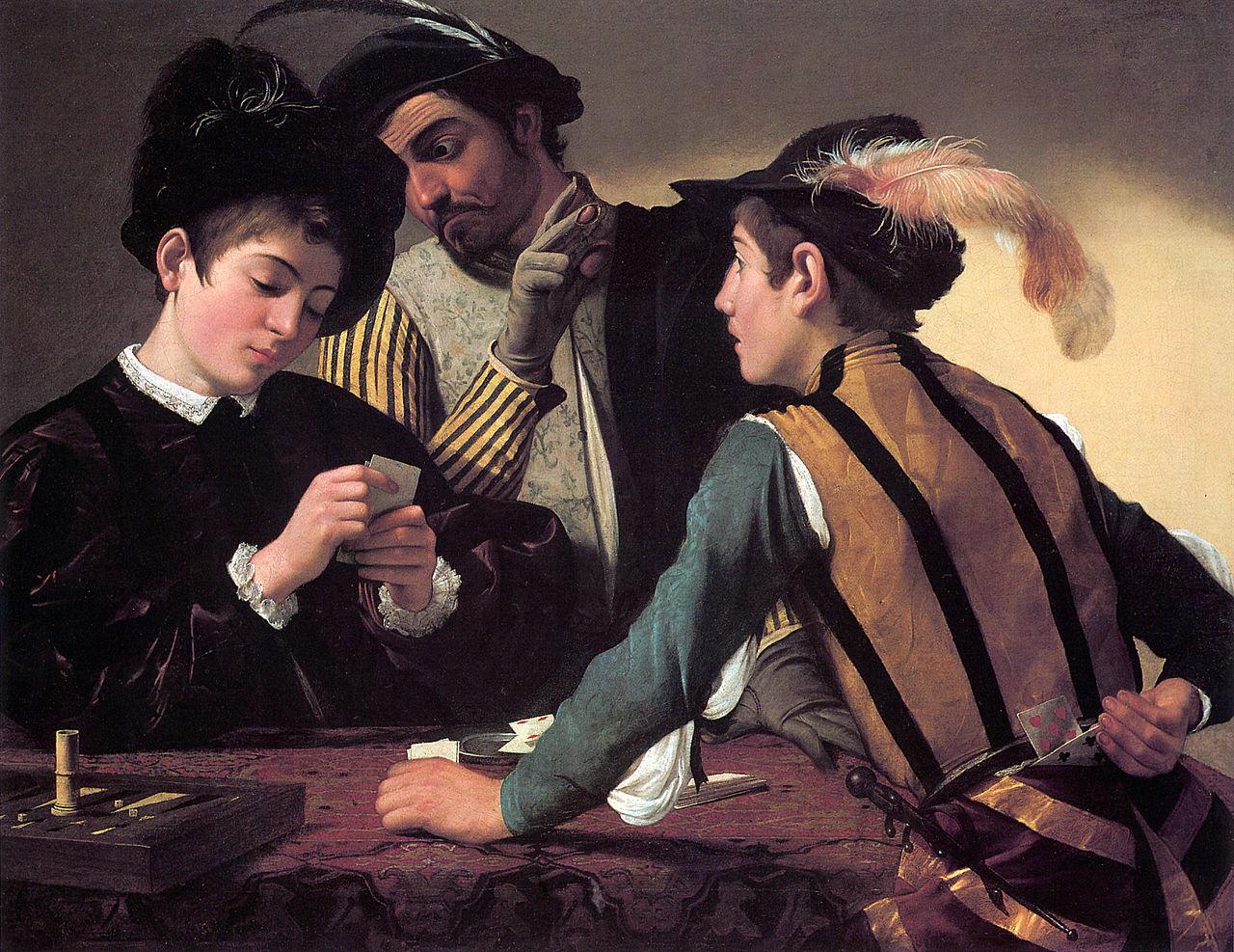 Caravaggio, I bari, olio su tela, 1594 (Fort Worth, Kimbell Art Museum)