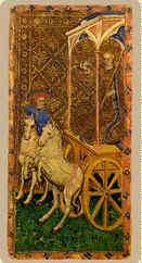La carta del carro del mazzo Visconti di Modrone (ca. 1428)