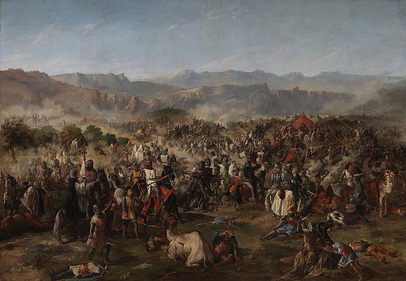 Battaglia di Las Navas de Tolosa, di Van Halen, esposta nel palazzo del Senato di Spagna a Madrid. Pittura ad olio