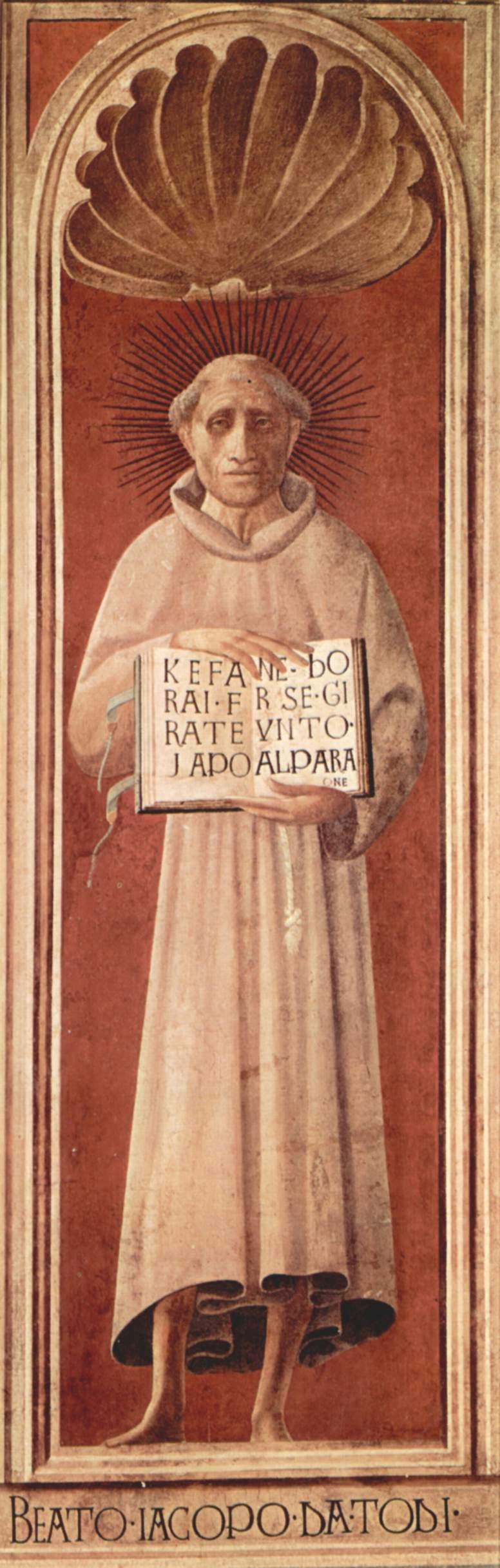 Beato Jacopone da Todi, affresco di Paolo Uccello, già nel duomo di Prato
