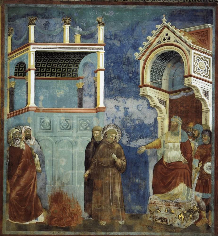Giotto di Bondone, San Francesco davanti al Sultano