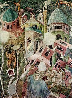 Il sisma di Efeso nel 1330 . Anonimo, cappella del campanile della chiesa di Sant'Agostino a Rimini
