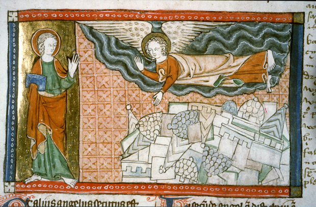 Miniatura sul sesto sigillo dell'Apocalisse di Giovanni