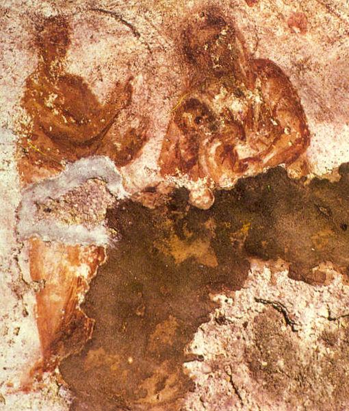 Pittura affrescata. Catacomba di Santa priscilla, III secolo d.C.