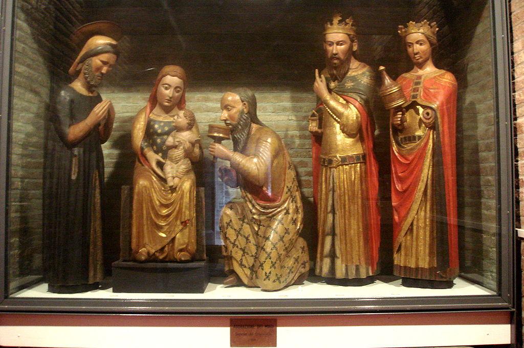 Bologna - Santo Stefano - Martyrium - Adorazione Magi (1370) (foto Giovanni Dall'Orto)