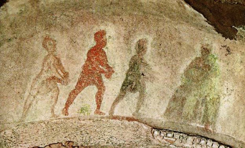 L'Adorazione dei Magi nella catacomba di Santa Priscilla
