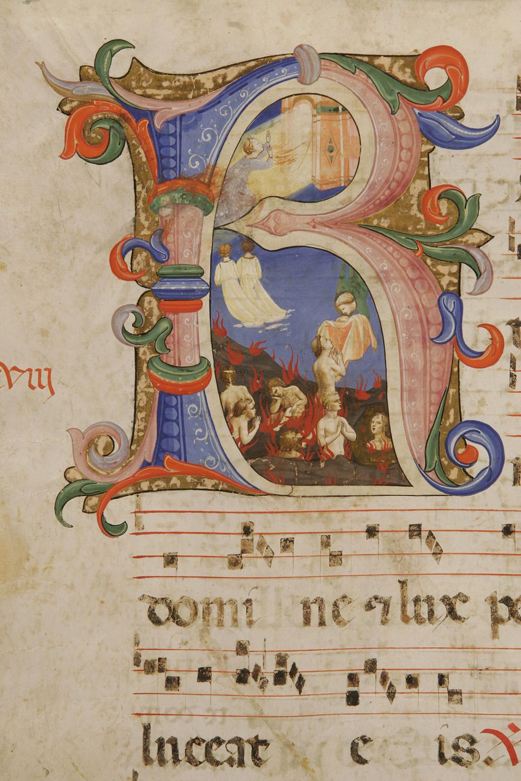 Resurrezione delle anime dai fuochi del Purgatorio, Beato Angelico, Graduale di S.Domenico