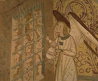 Sollievo per le anime del Purgatorio, affresco della cappella di Notre Dame de Benva