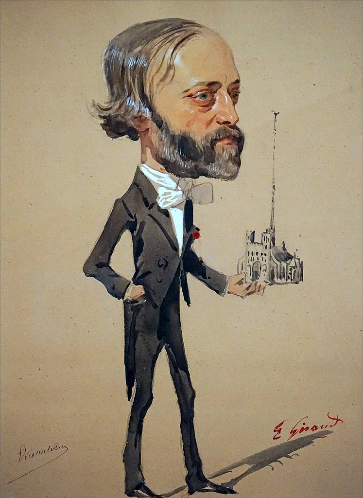 Caricatura di Viollet-le-Duc di Eugène Giraud, 1860