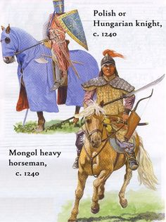 Cavallerie mongolo e occidentale a confronto