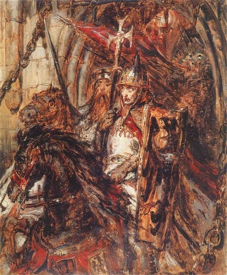 Enrico II il Pio, in un quadro di Jan Matejko (1838-1893)