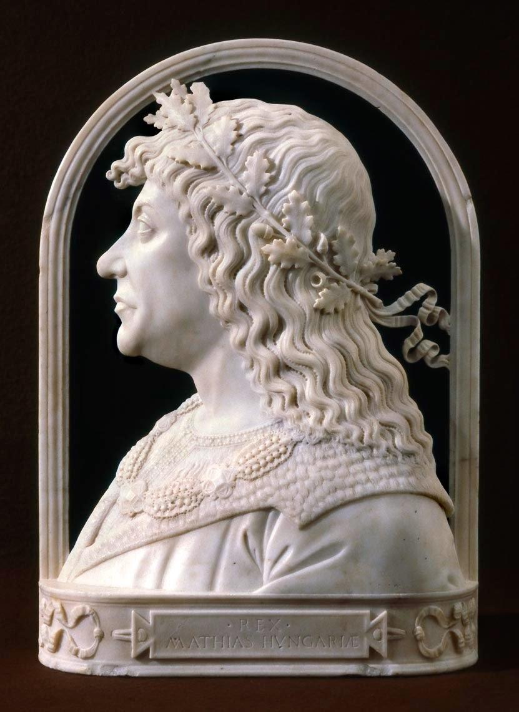 Giovanni Dalmata, Ritratto in marmo di re Mattia Corvino, Museo Fine Arts di Budapest