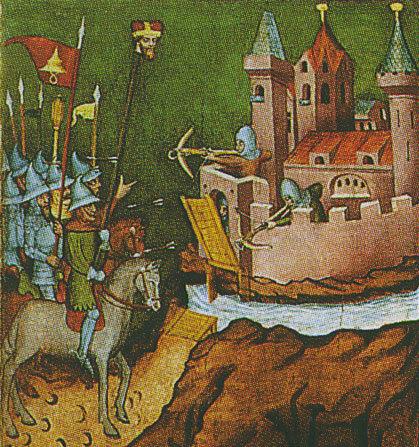 I mongoli esibiscono la testa di Enrico il Pio nell'assedio di Leignitz
