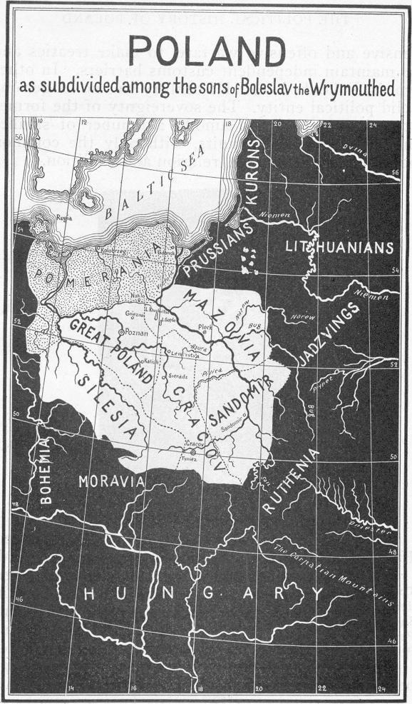 La frammentazione dei territori polacchi  tra la morte di Boleslao III nel 1138 e l'incoronazione di Ladislao I nel 1320