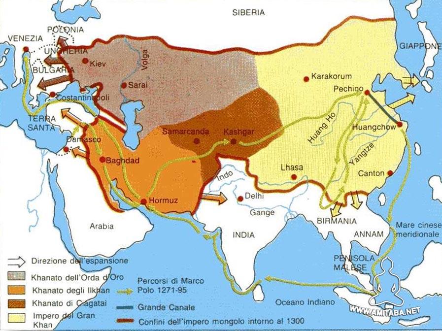 L'impero mongolo nel 1300