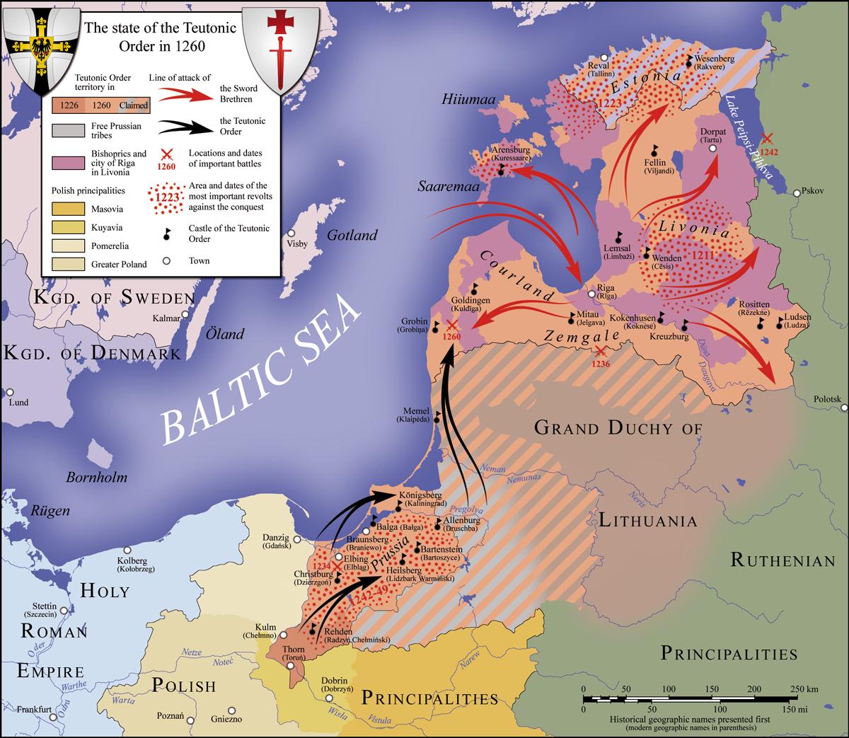 Lo stato dell'Ordine Teutonico nel 1260