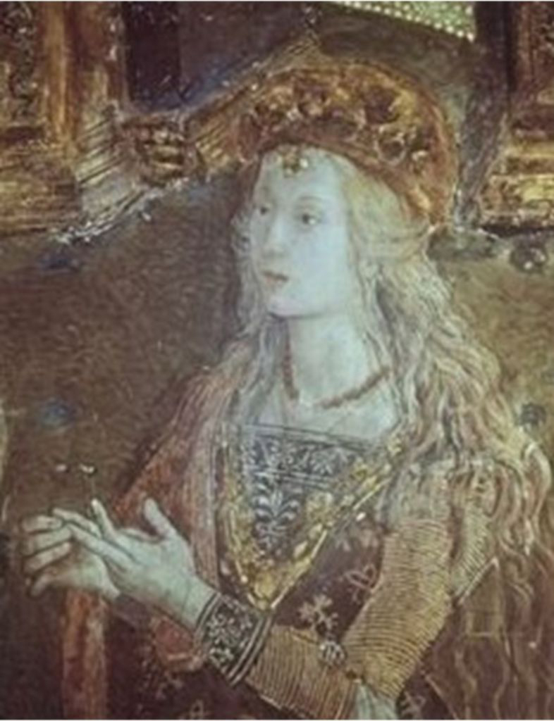 Lucrezia Borgia ritratta dal Pinturicchio