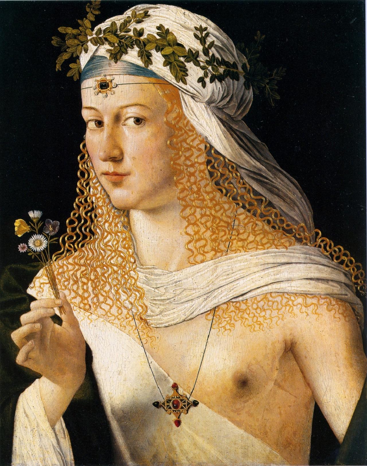 Per alcuni storici dell'arte il Ritratto di Flora di Bartolomeo Veneto rappresenta Lucrezia Borgia