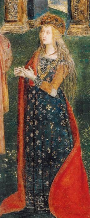 Presunto ritratto di Lucrezia Borgia nella Disputa di Santa Caterina del Pinturicchio