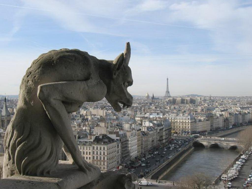 Una chimère, opera di Eugène Viollet-le-Duc a Notre Dame de Paris