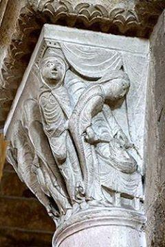 Uno dei capitelli di Vézelay