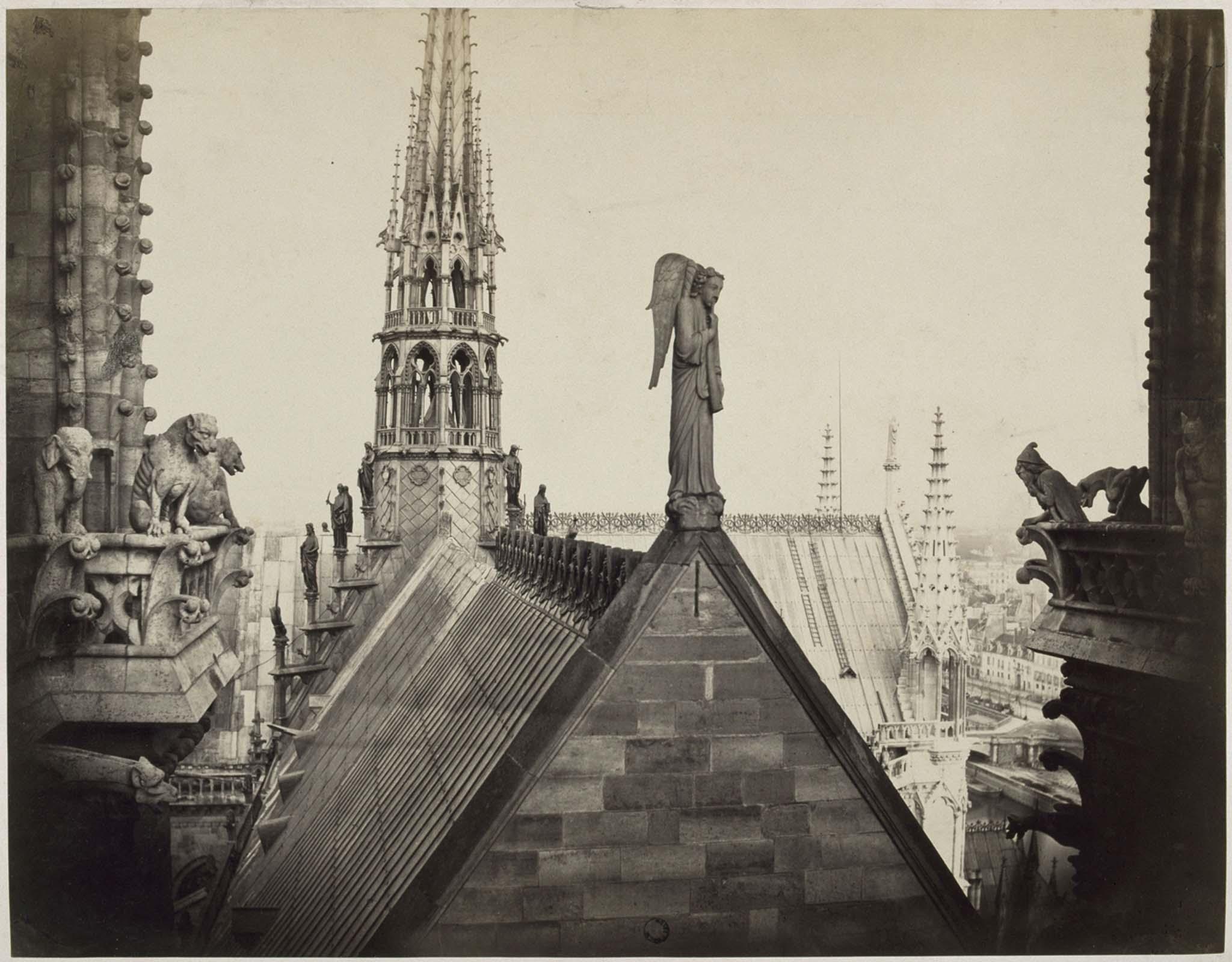 La guglia di Notre-Dame e l'angelo del Giudizio Universale (©musée d'Orsay)