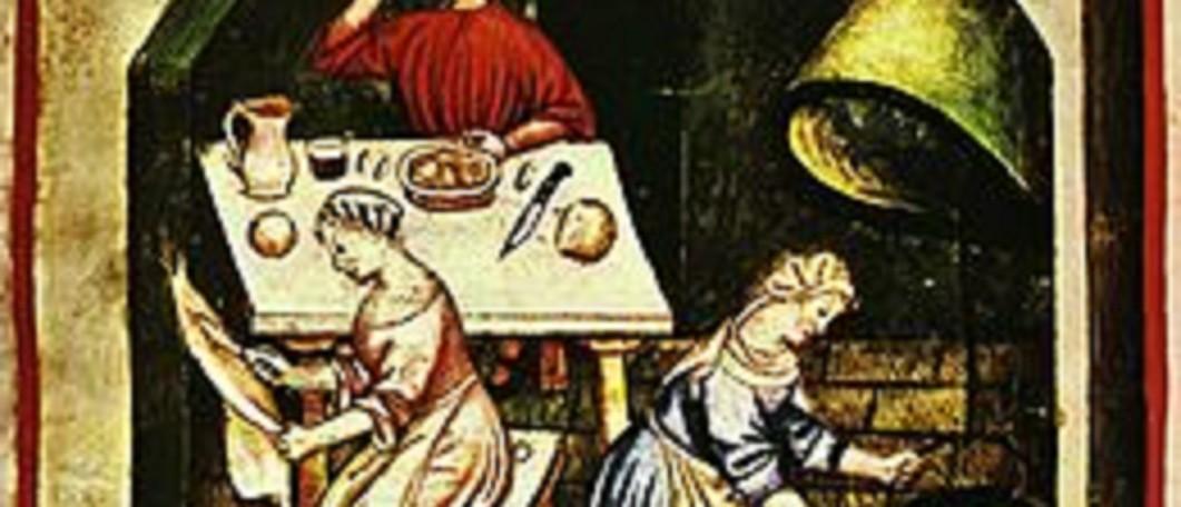 Al lavoro in cucina, Tacuinum sanitatis casanatensis (XIV secolo)