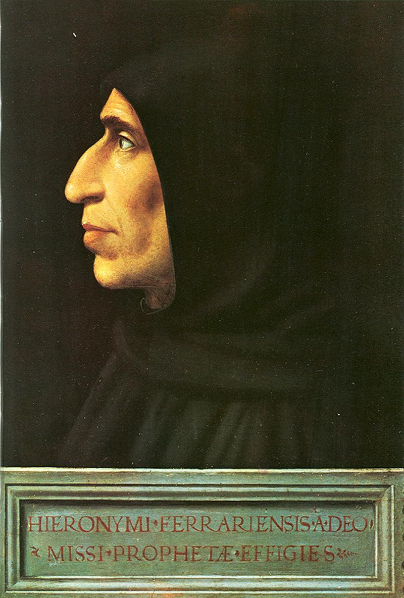 Girolamo Savonarola (Fra Bartolomeo, 1498, olio su tavola, Museo nazionale di San Marco, Firenze)