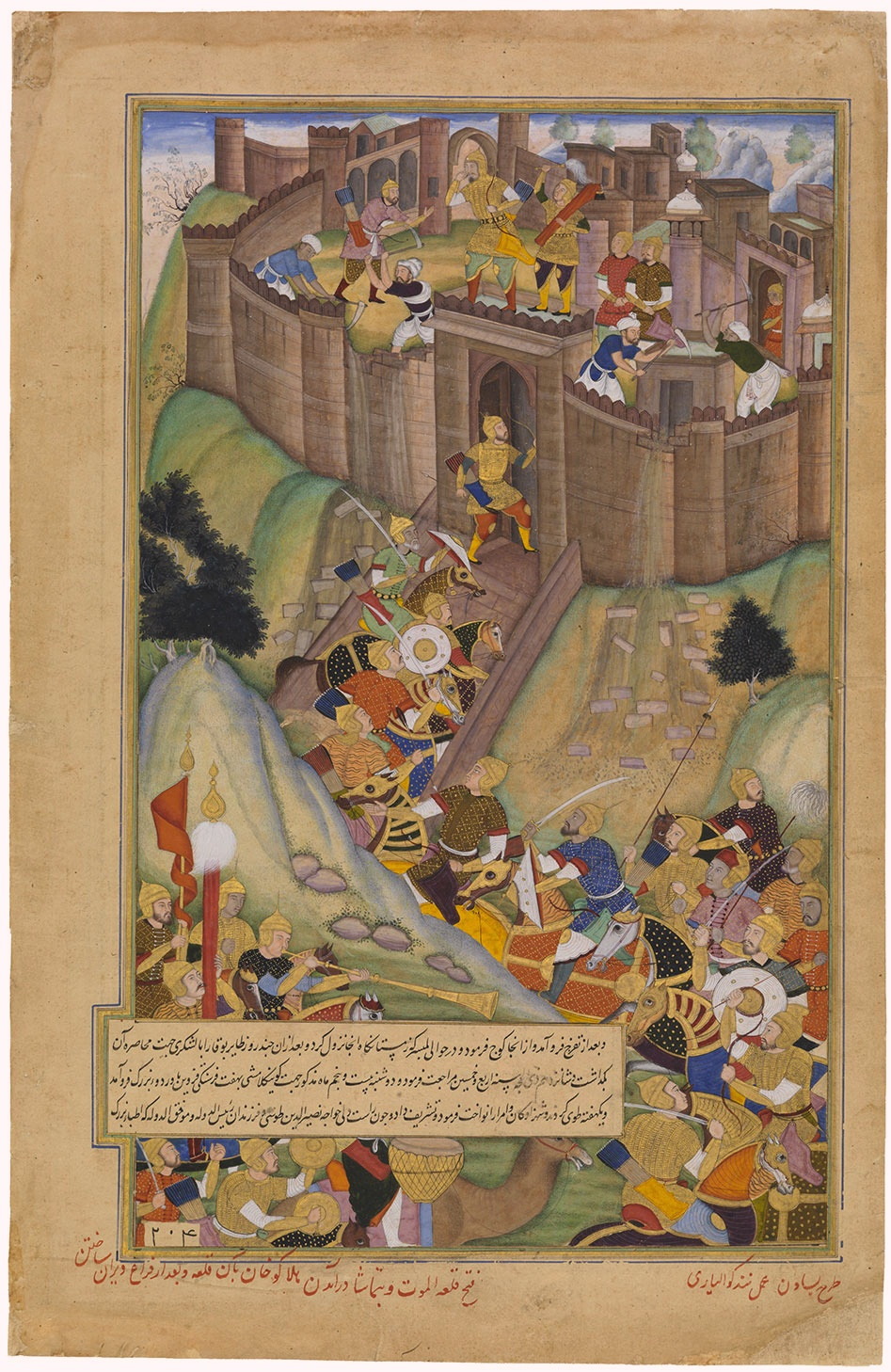 Hulagu Khan all'assalto della fortezza di Alamut