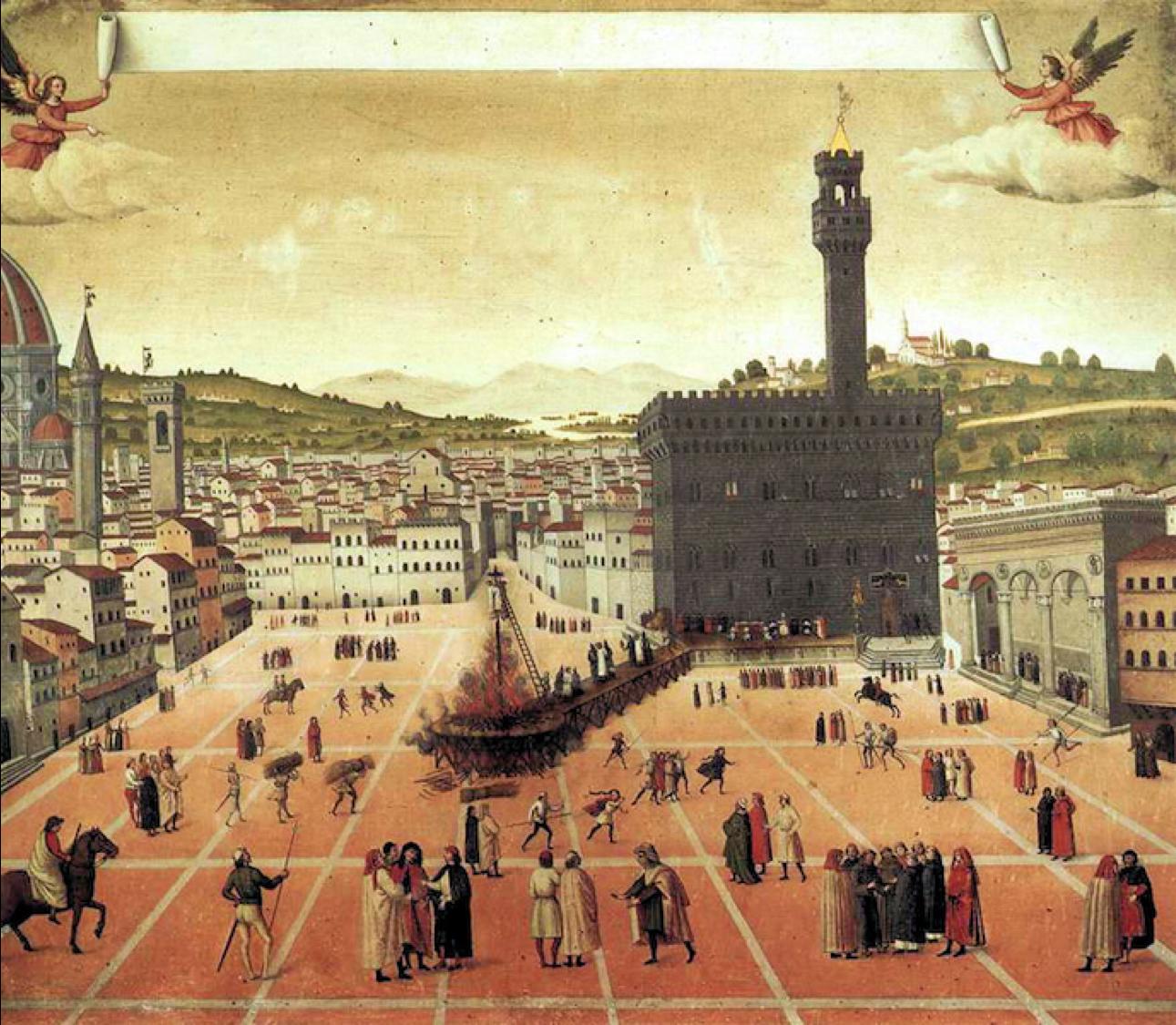 Il supplizio di Savonarola - (Francesco di Lorenzo Rosselli, 1498 -Museo di S. Marco, Firenze)