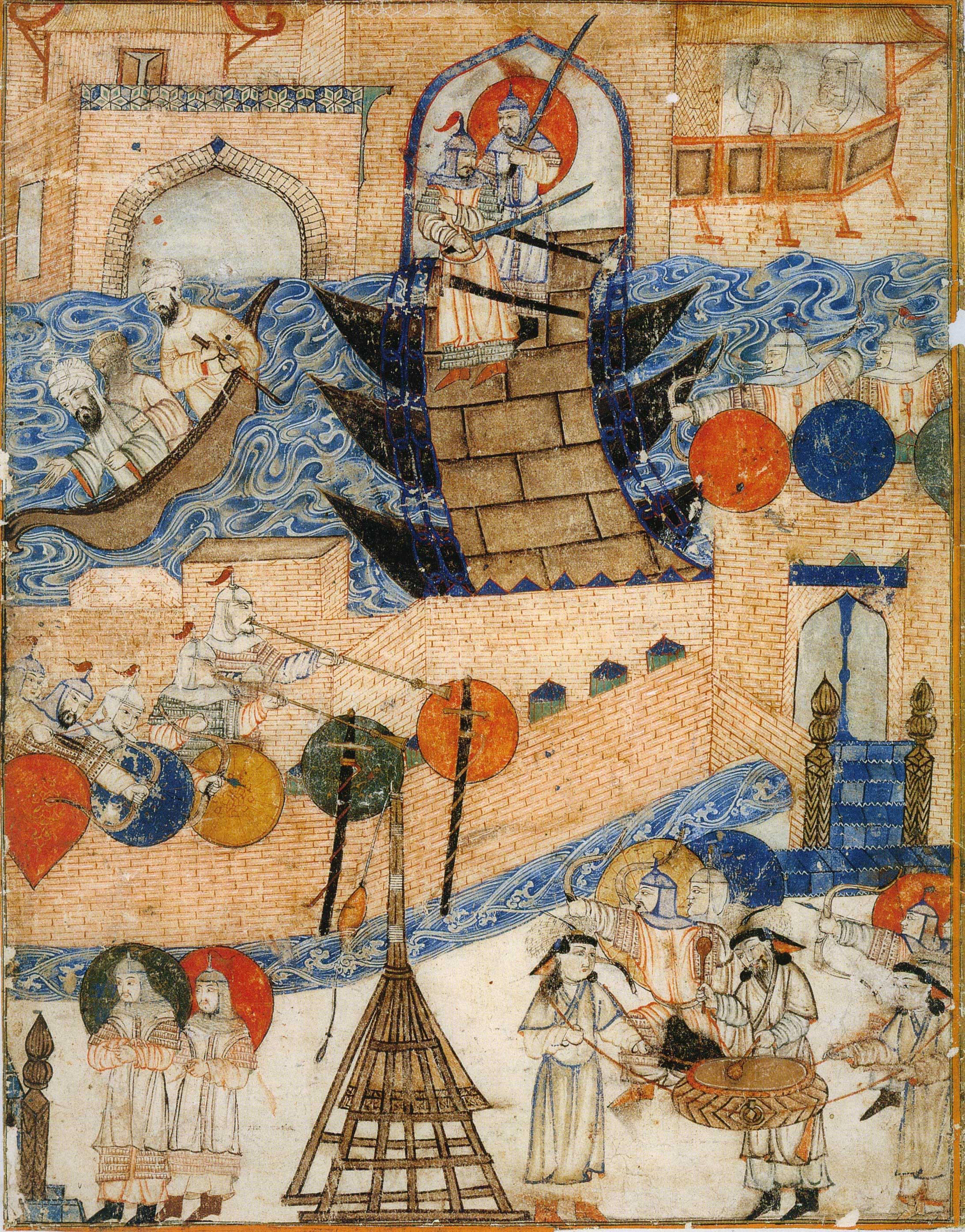 La conquista di Baghdad da parte di Hulagu Khan