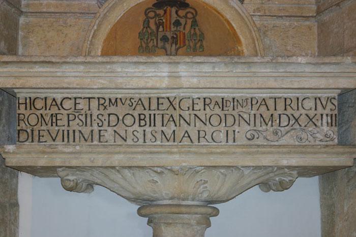 La tomba di Alessandro Geraldini nella cattedrale di Santo Domingo