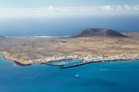 L'isola Graciosa dell'arcipelago delle Canarie