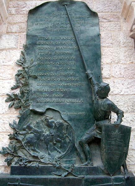 Monumento nella città di Barletta in ricordo della Disfida