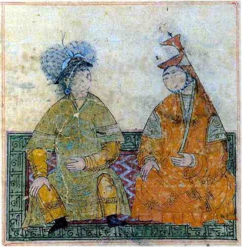 Ritratto di Hulagu e di  Doquz Kathun in una miniatura trecentesca