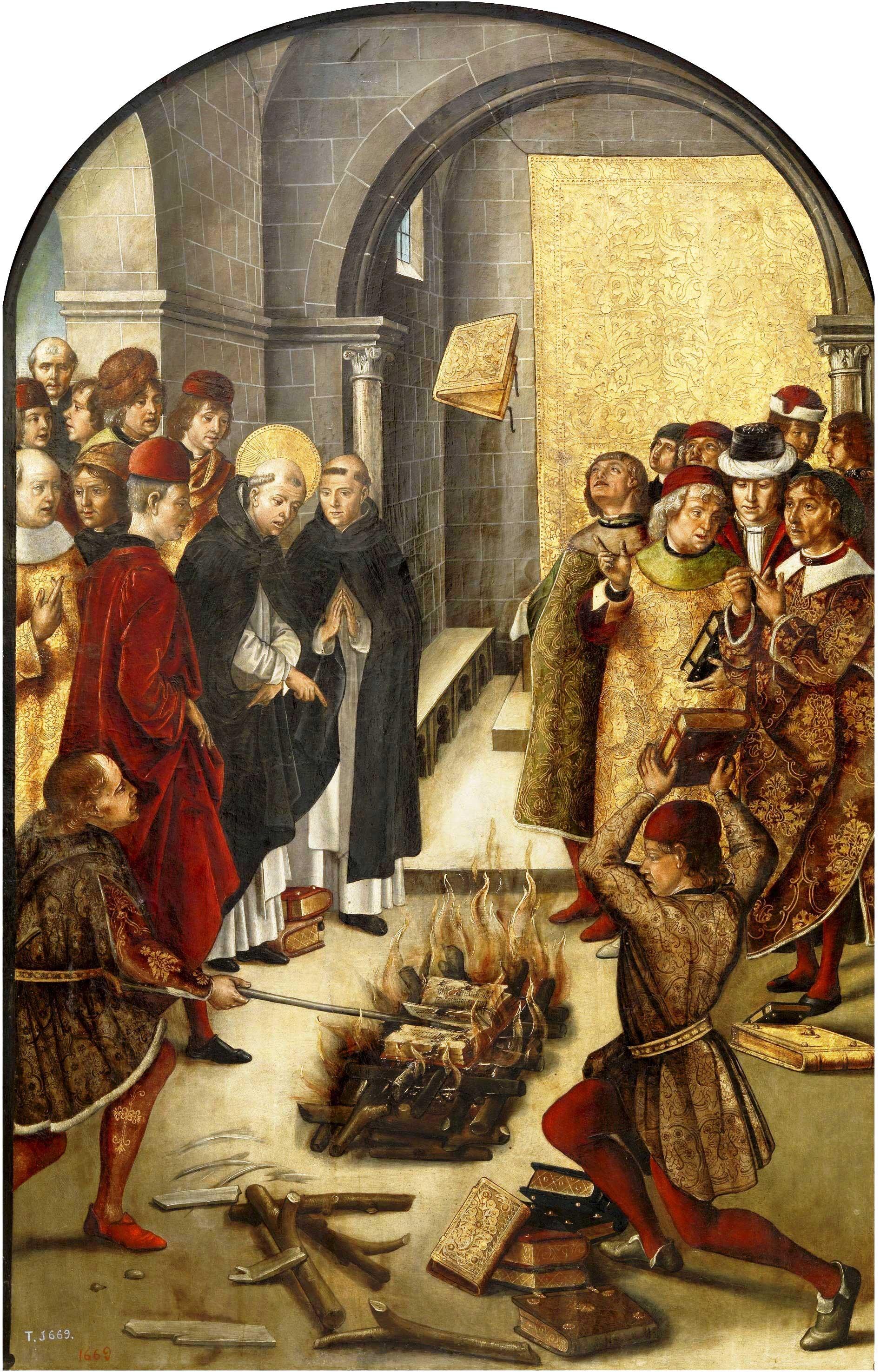 Un altro falò delle vanità (San Domenico e gli Albigensi) è ricordato nel dipinto del pittore spagnolo Pedro Berruguete