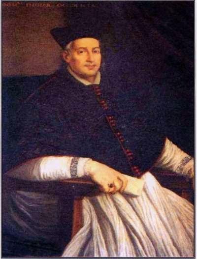 Un ritratto di Alessandro Geraldini conservato nel municipio di Amelia