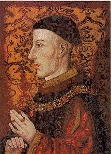 Enrico V di Lancaster in un dipinto quattrocentesco