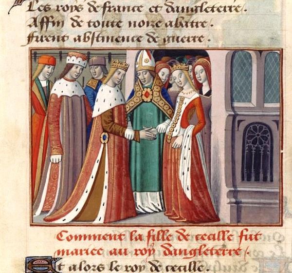 Il matrimonio di Margherita D'Angiò ed Enrico V in una miniatura del secolo XV