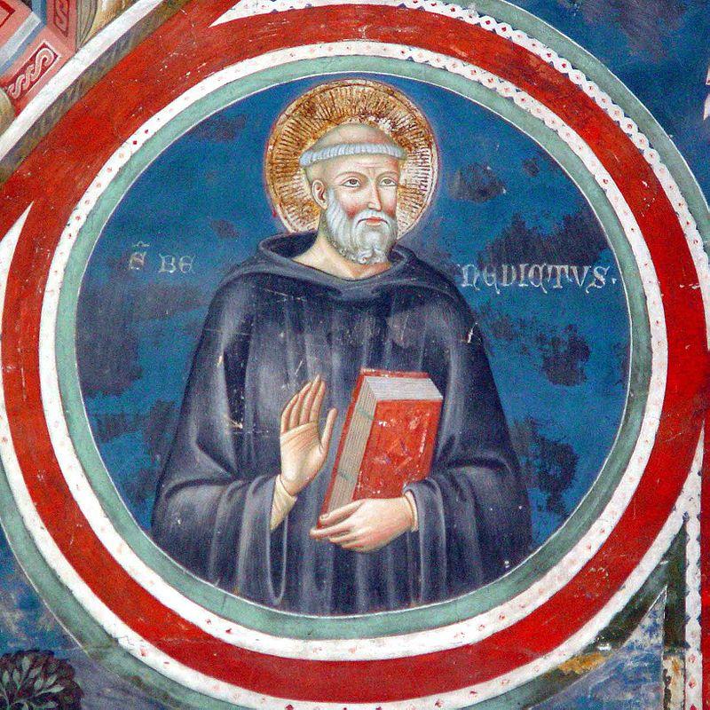 San Benedetto da Norcia in un affresco a Subiaco