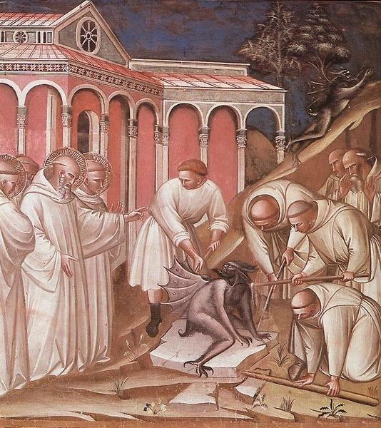 Spinello Aretino, Miracolo di San Benedetto