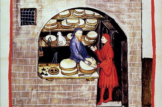 vendita-di-formaggio-incisione-dal-tacuinum-sanitatis-codex-vindobonensis-series-nova-2644-osterreische-nationalbibliothek-vienna